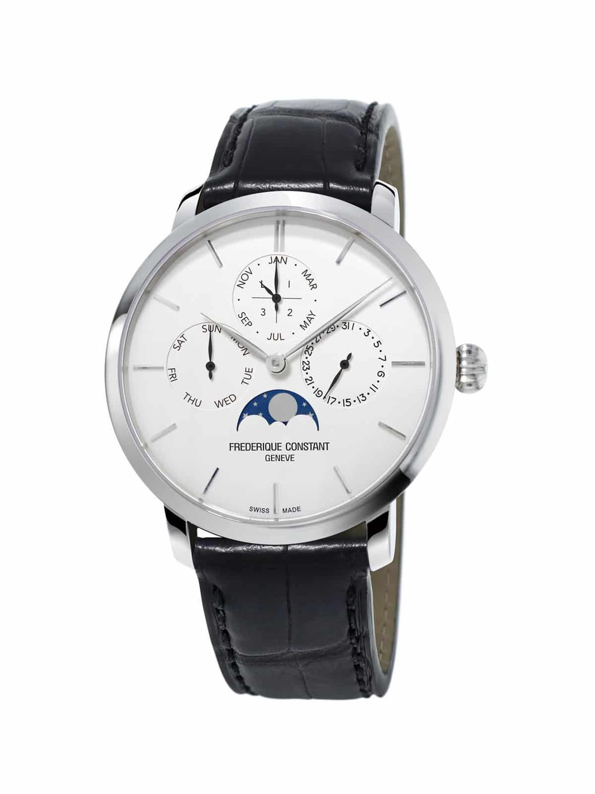 Frederique Constant Slimline Perpetual Calendar White Dial