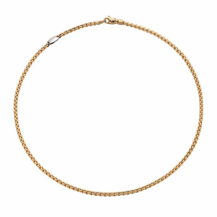 Fope 18KYG TINY EKA Link Chain, with Diamond