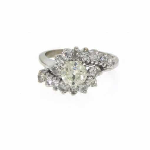 14k old cut diamond ring
