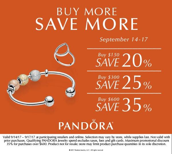 Pandora Promotion Buy More Save More Little Treasury