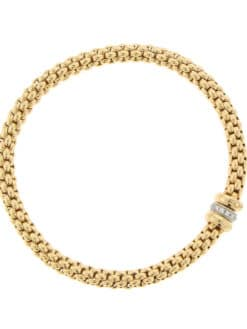 Fope Diamond Gold Bracelet top view
