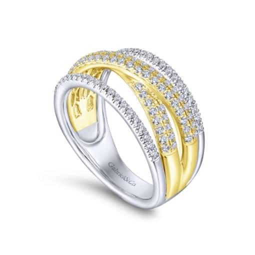 14k Yellow/White Gold Fashion Diamond Ladies Ring