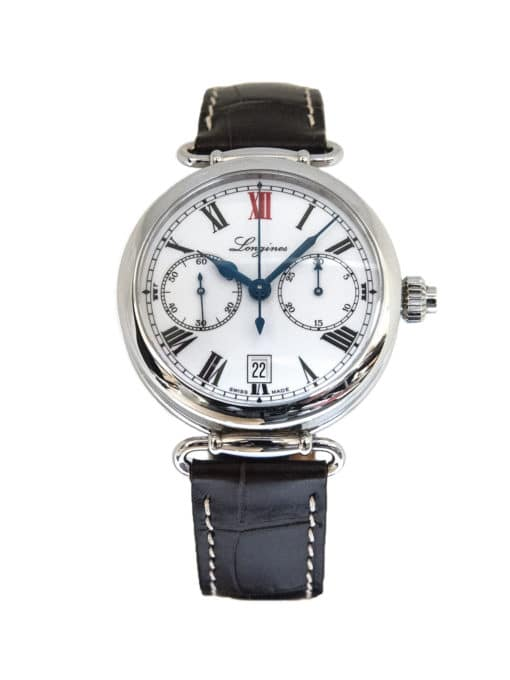 Pre-Owned Longines 180th Anniversary Heritage Monopusher Chronograph front