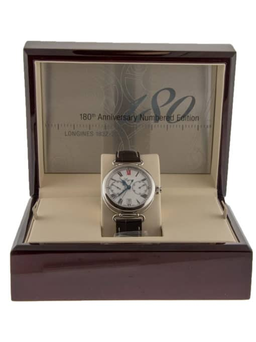 Pre-Owned Longines 180th Anniversary Heritage Monopusher Chronograph box