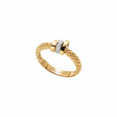 Fope 18KYG Flex'it Prima Ring with Diamond