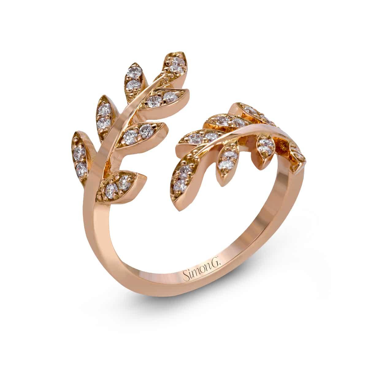 Simon G leaf ring