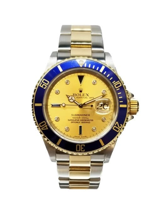 Pre-Owned 18k Rolex Oyster Perpetual Date Submariner. 16613