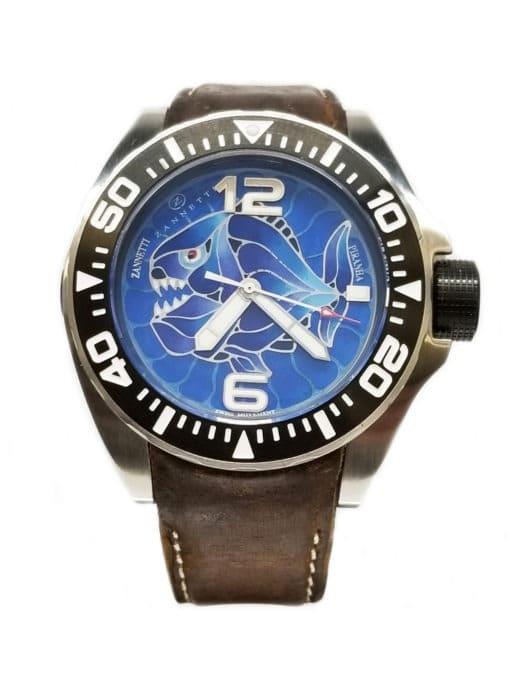 Zannetti Piranha Champleve Blue Limited Edition