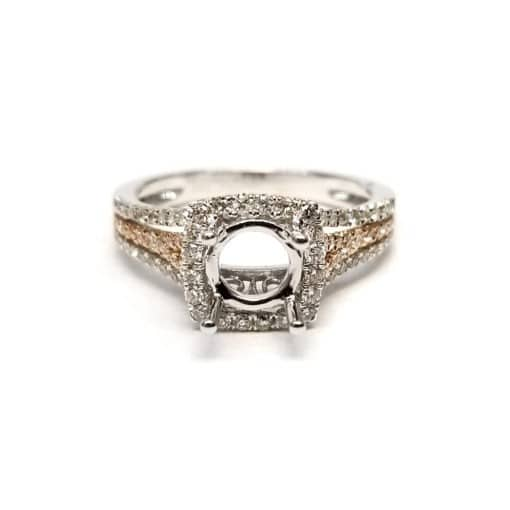 White Gold and Rose Gold Engagement Ring