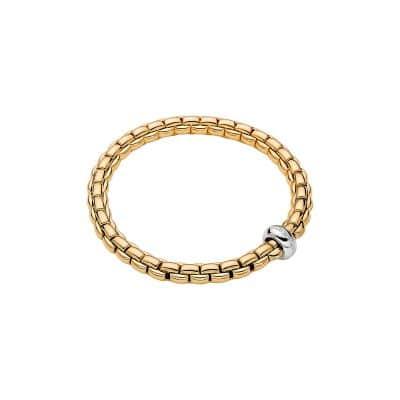 Fope 18K Yellow Gold Eka Anniversario Bracelet, Dia 0.13ctw