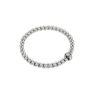 Fope 18K White Gold Flex'it Olly Bracelet with Diamonds