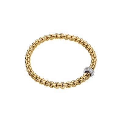 Fope 18K Yellow Gold Eka Bracelet, Dia 0.37ctw