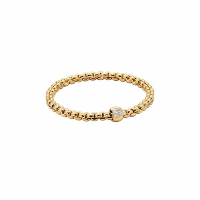 Fope 18KY Flex'it Eka Bracelet, DIa 0.12ctw