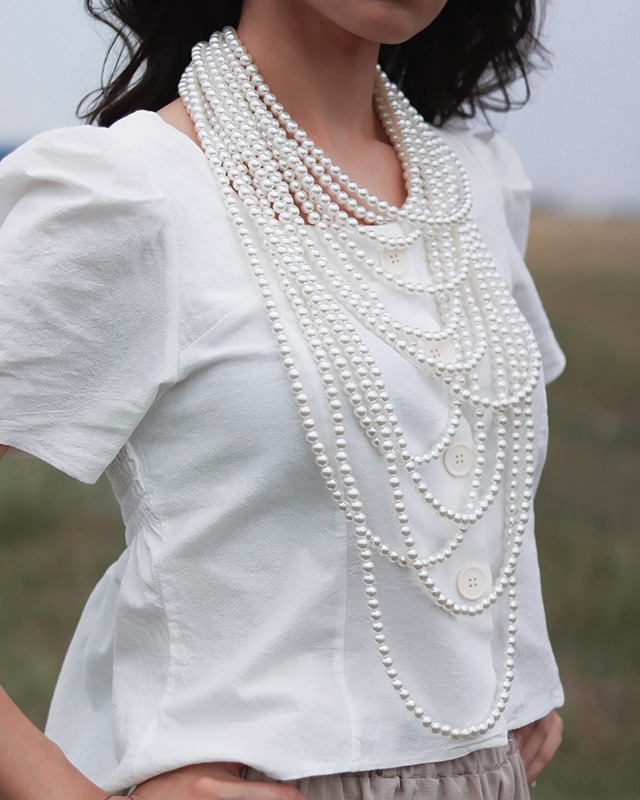 Lots of Pearls on necklace