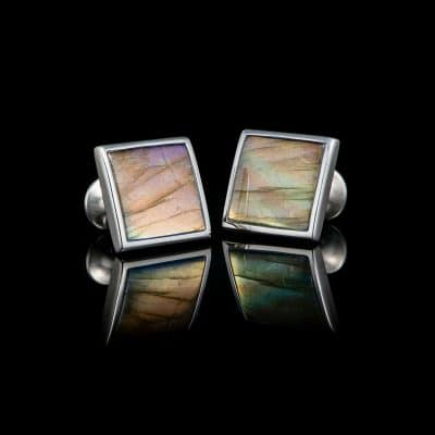 William Henry Labradorite Duo Cufflinks Front